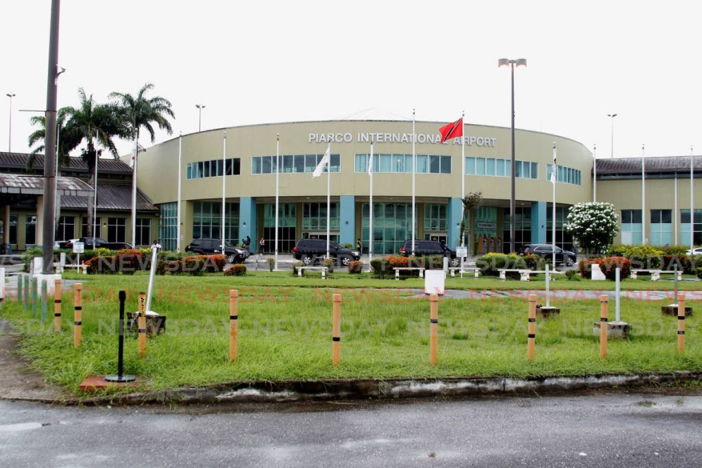 FILE PHOTO: The main entrance of the Piarco International Airport.