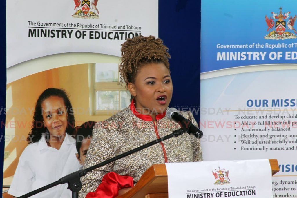 Minister of Education Dr Nyan Gadsby-Dolly