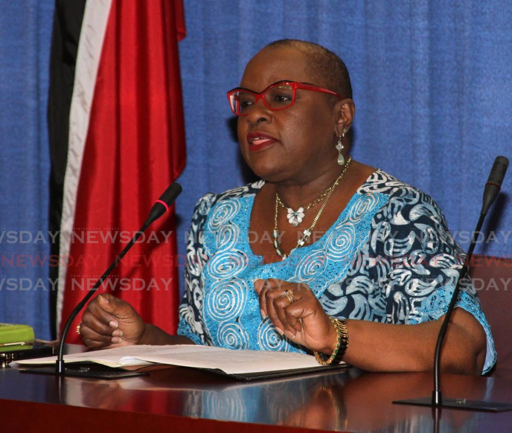 File photo: Minister of Planning and Development Camille Robinson-Regis.  Photo by Angelo Marcelle