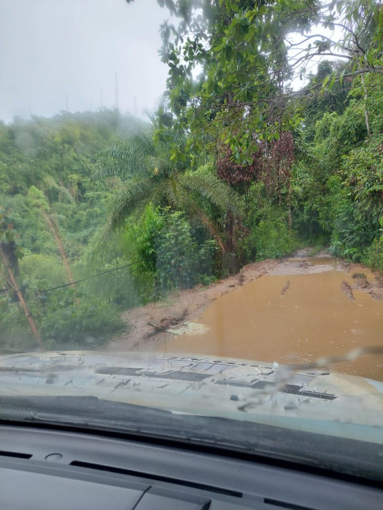 Cumberland Hill, where most of the country's electronic media have their transmitters, was left unreachable on Tuesday after the recent heavy rain.
