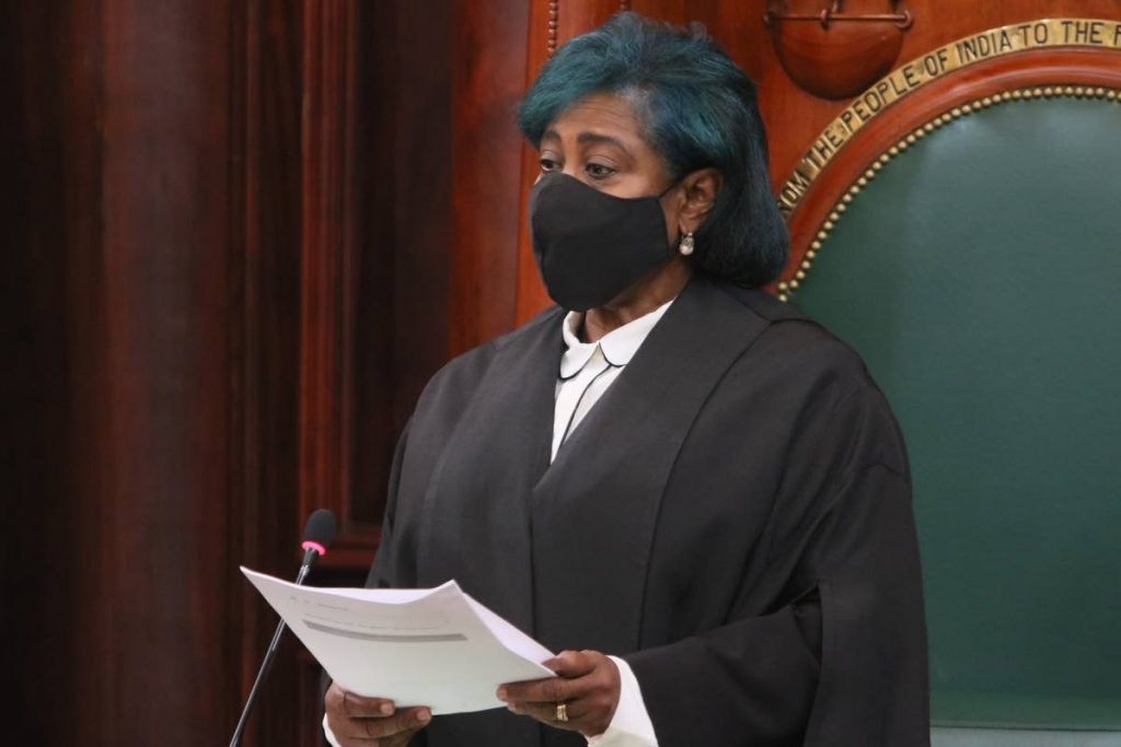 Speaker Bridgid Annisette-George. - File photo/Office of the Parliament