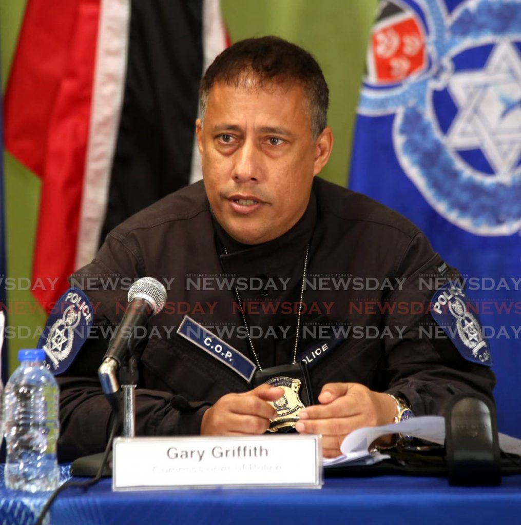 Former police commissioner Gary Griffith.