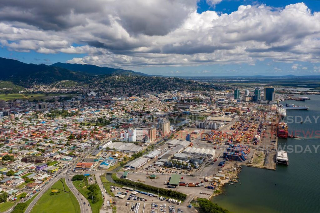 An aerial view of Port of Spain. Data is key to economic planning.  - Photo by Jeff K Mayers