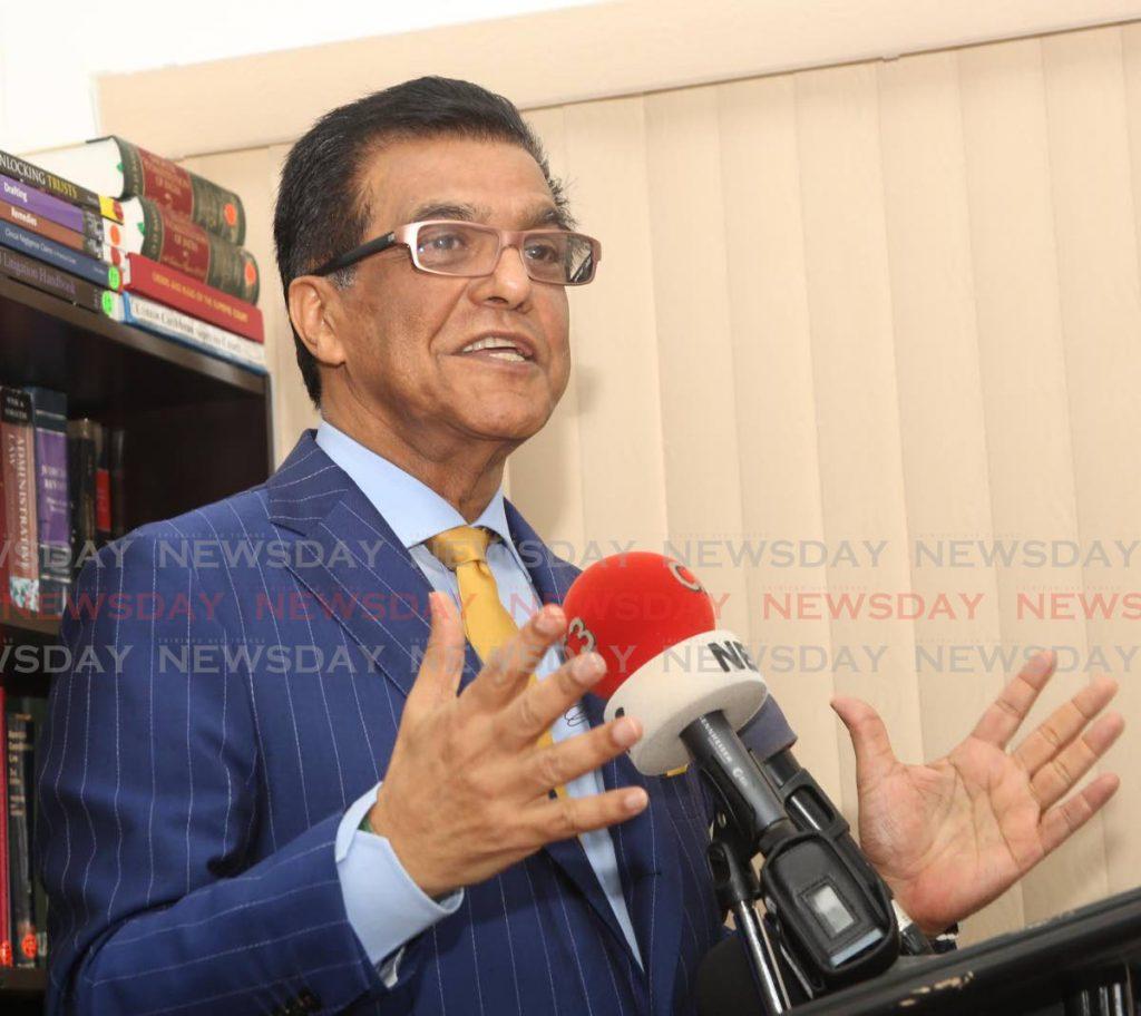 Attorney Ramesh Lawrence Maharaj. FILE PHOTO - File Photo