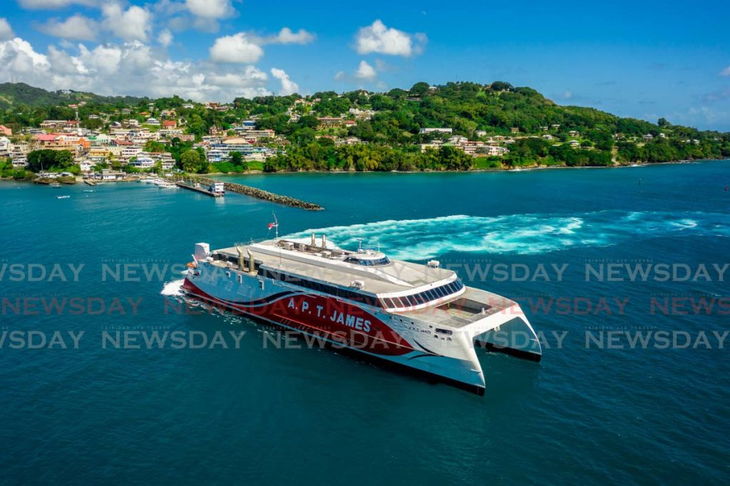 The inter-island ferry APT James arrives at the Scarborough Port, Tobago. FILE PHOTO/JEFF MAYERS