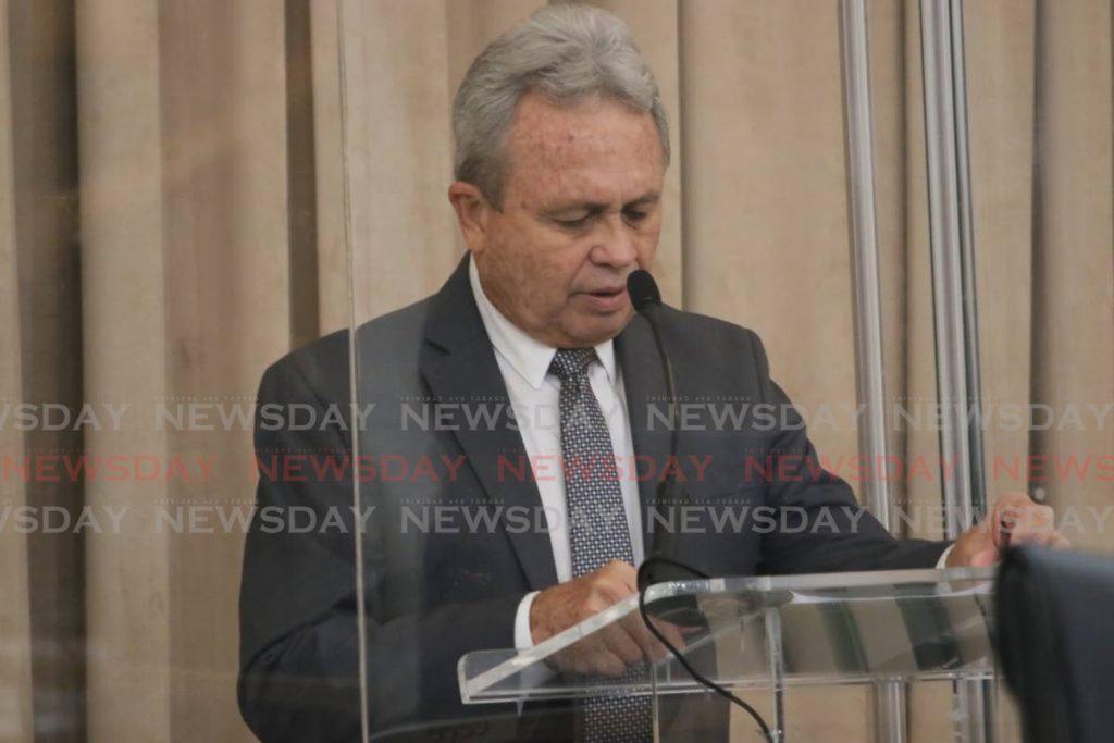 Finance Minister Colm Imbert. FILE PHOTO -