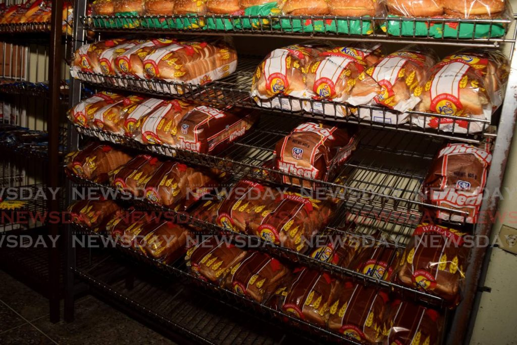 Loaves of Kiss bread on a shelf at a supermarket in Port of Spain. -