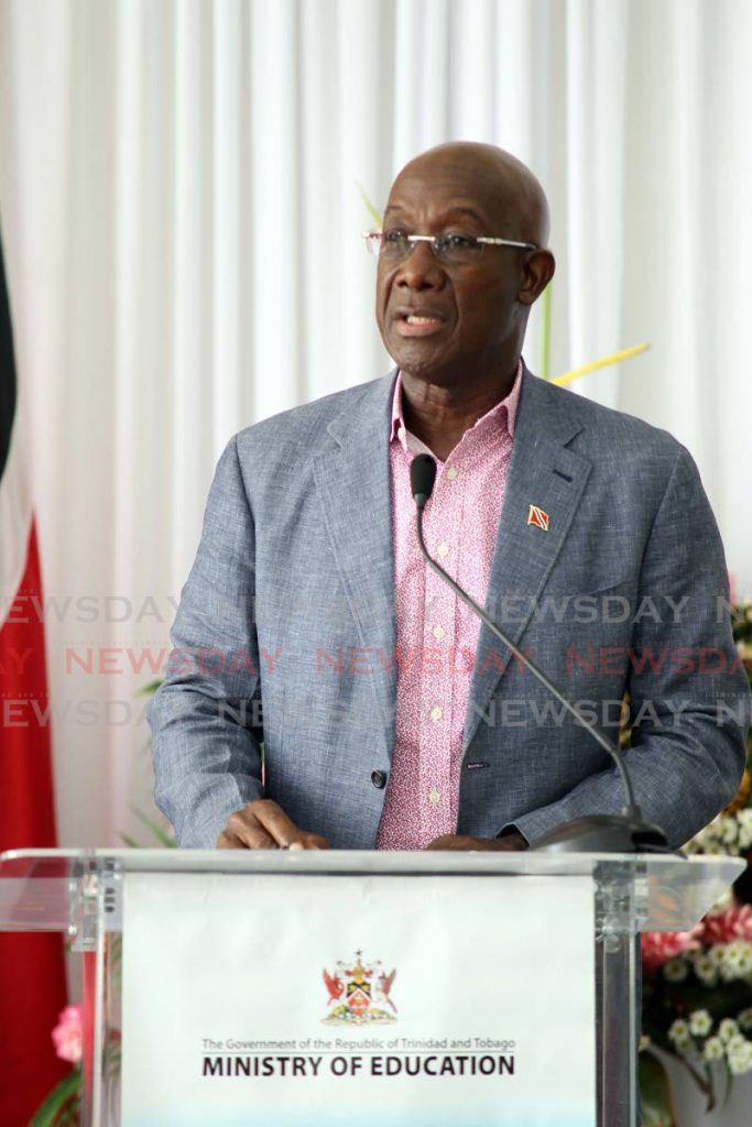 Prime Minister Dr Rowley - Lincoln Holder