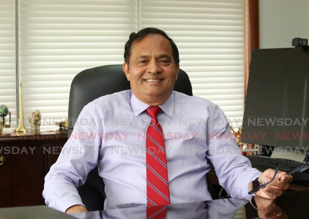 Construction stalwart Sieunarine Coosal says his motivating factor and ultimate success is the ability to provide employment to thousands of people who brought a wide array of skill sets to the Coosal Group's operations.  Photo by Sureash Cholai