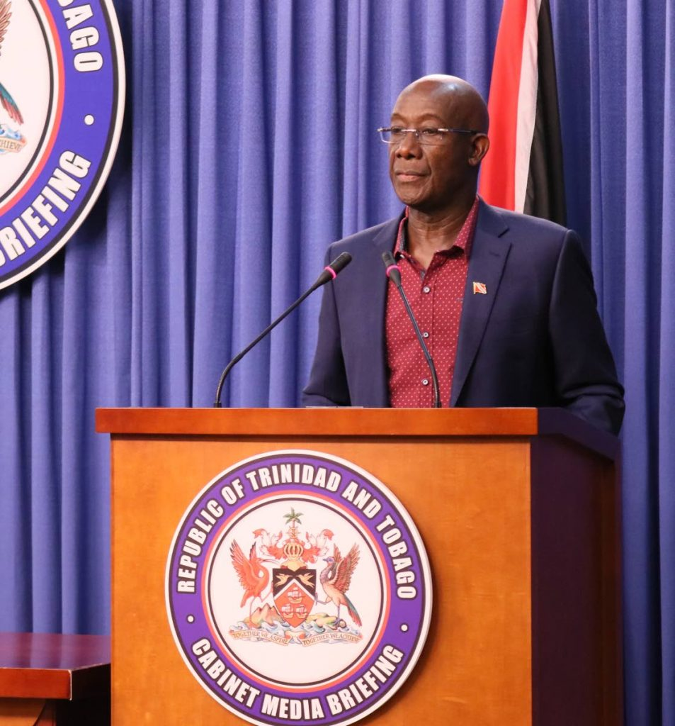 Prime Minister Dr Keith Rowley. FILE PHOTO -