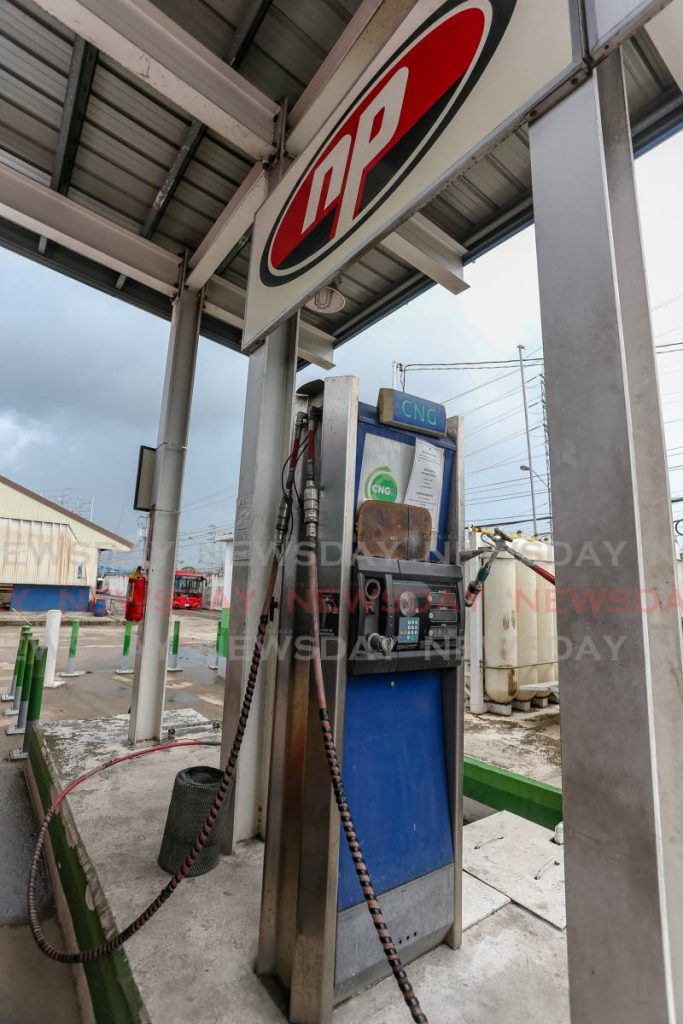 A CNG filling station at City Gate, Port of Spain.  File photo by Jeff K Mayers