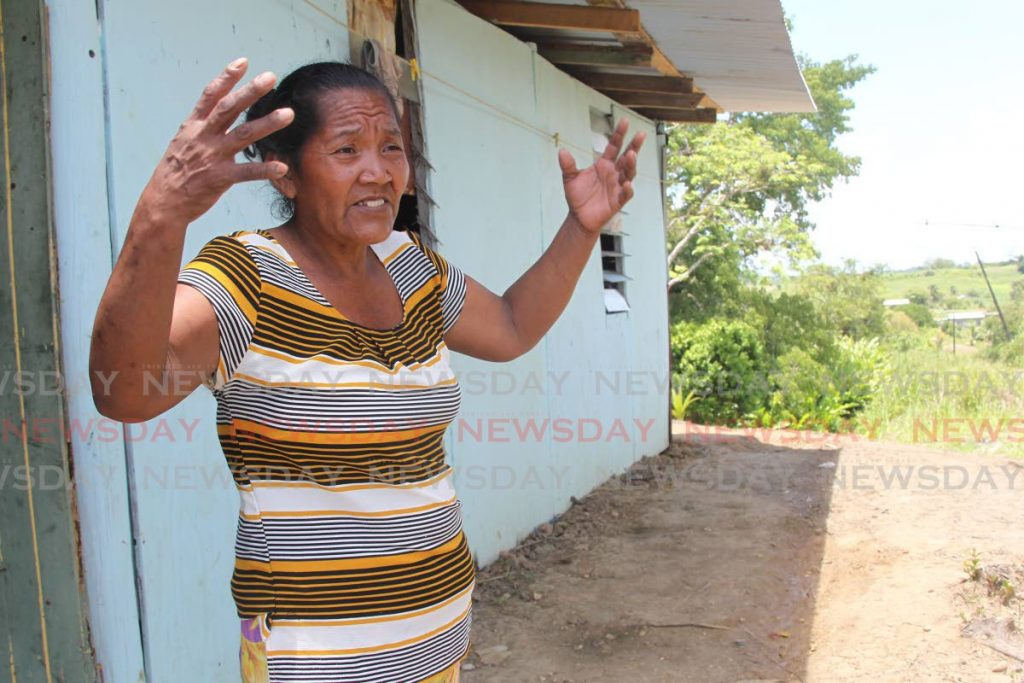 Venezuelan Rosana Theresa Gonzales  speak with Newsday about what happened when she got the news her daughter hugs her daughter Gabriella was found. The  Venezuelan girl who was reported missing days ago was found in Princes Town by a relative with injuries to her face believed to be from a car accident.  Photo by Lincoln Holder
