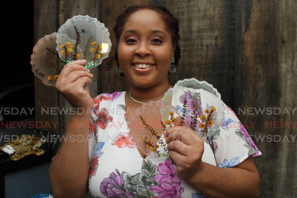 Ashley Delzin-Percival runs Oddish, an online craft store. She handmakes items out of resin. - AYANNA KINSALE