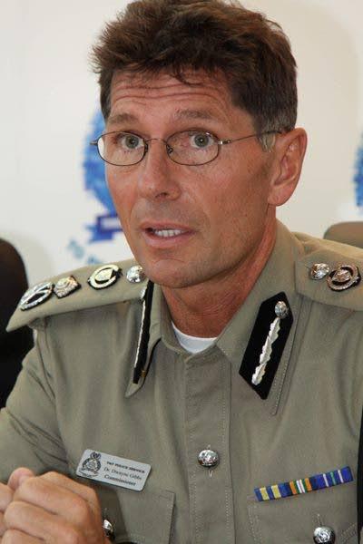 Former police commissioner Dr Dwayne Gibbs. -
