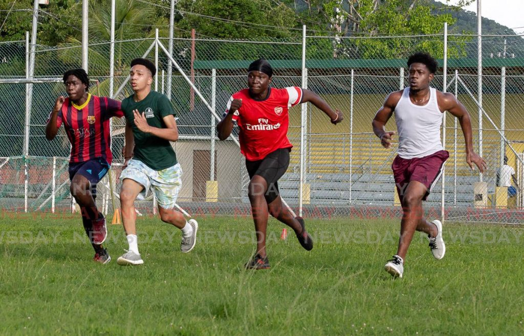 Sonics Sports and Fitness club's athletes off to a sprint. - Photo by David Reid