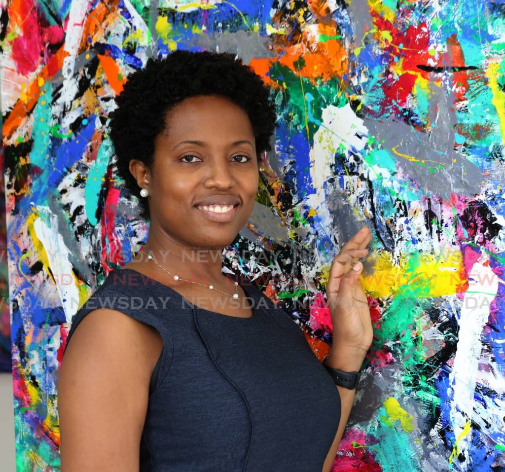 The Fabric of Life is the title of Keiba Jacob Mottley's first solo exhibition at Arnim's Art Galleria, Tragarete Road, Port of Spain, until September 25. Photo by Sureash Cholai