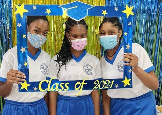 From left:  Diana Johnson, Shenika Sydney and Cherish Triea of Santa Maria RC.