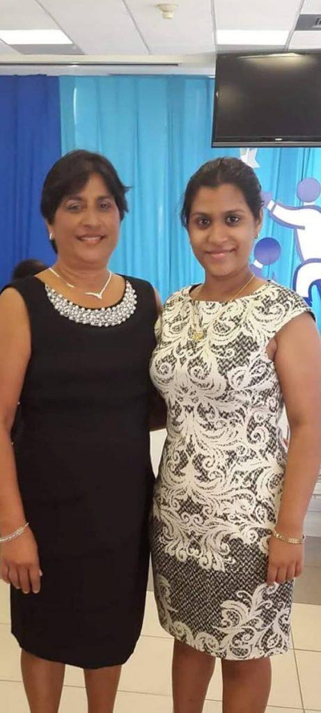 Savitri Sooklal and her daughter, Arianna Sandeepa Balgobin. -