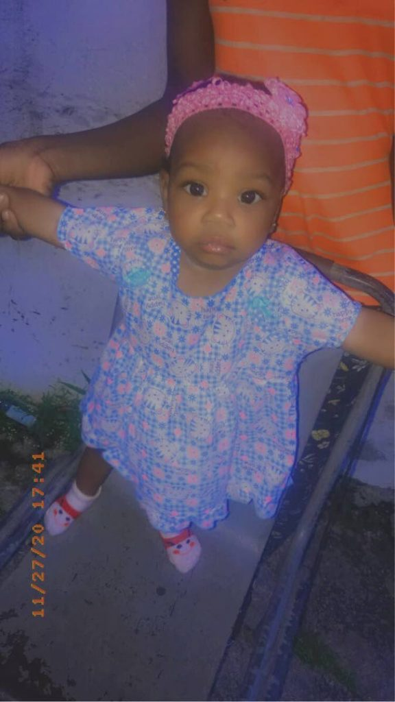 Sariah Williams now deceased, was chopped by a Tarodale man on Sunday night who was wielding a cutlass at her grandmother. -