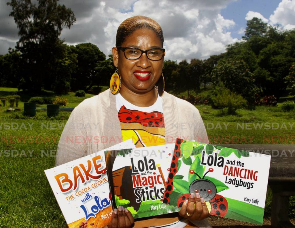 Mary Cuff has written three children's books based on the loveable character, Lola the ladybug. - Photo by Roger Jacob
