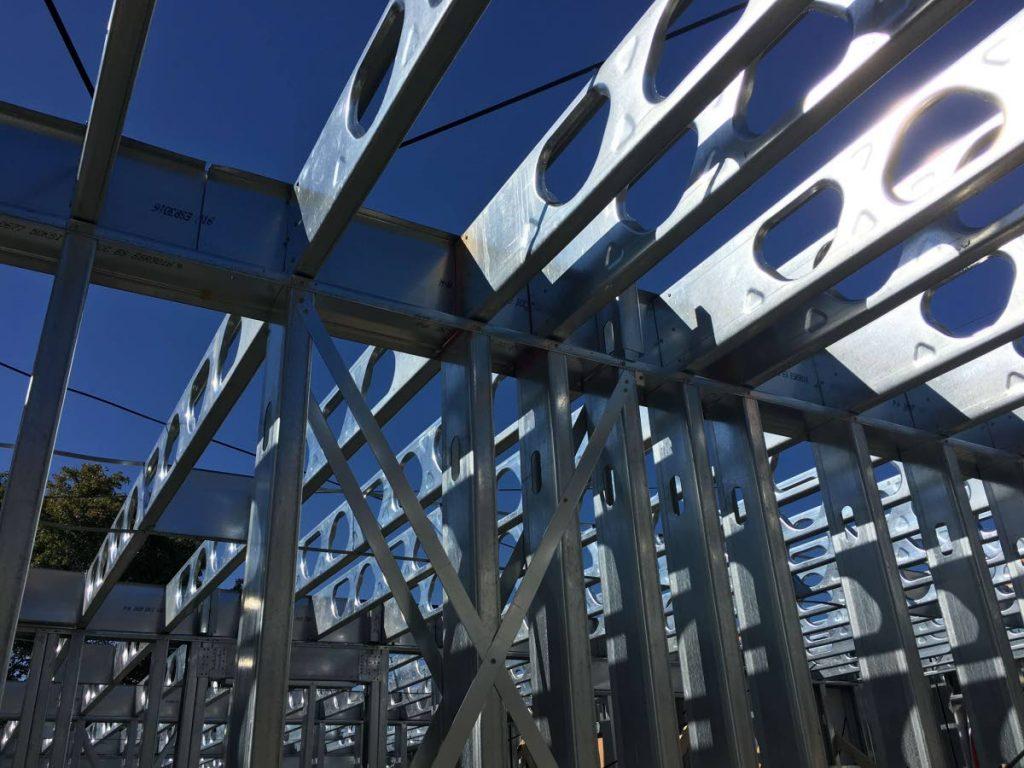 Cold-formed steel framing. -