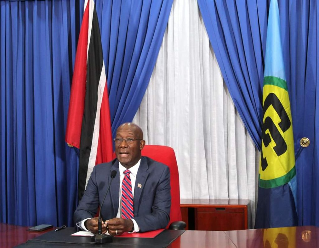 Prime Minister Keith Rowley. Photo courtesy OPM Facebook page.