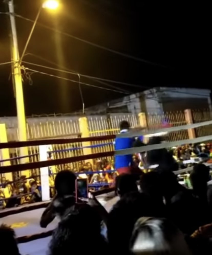 A screengrab from a video that went viral on social media over the weekend which showed unsanctioned boxing happening in Port of Spain.