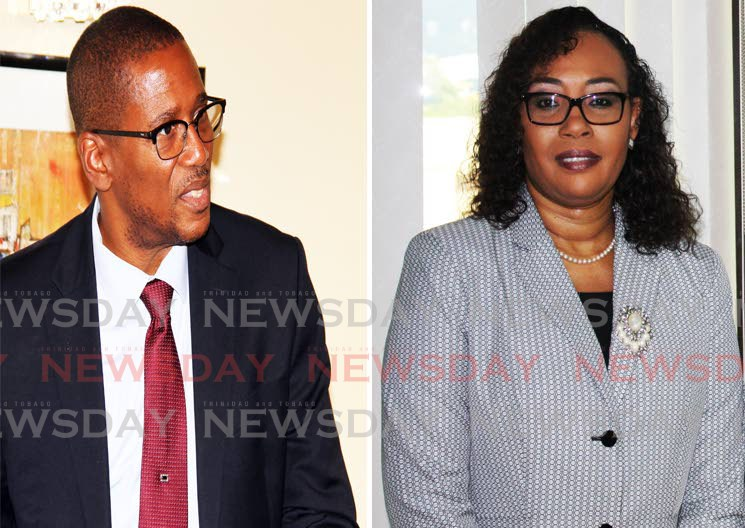 A composite photo showing Chief Justice Ivor Archie and former chief magistrate Marcia Ayers-Caesar. FILE PHOTO - FILE PHOTO