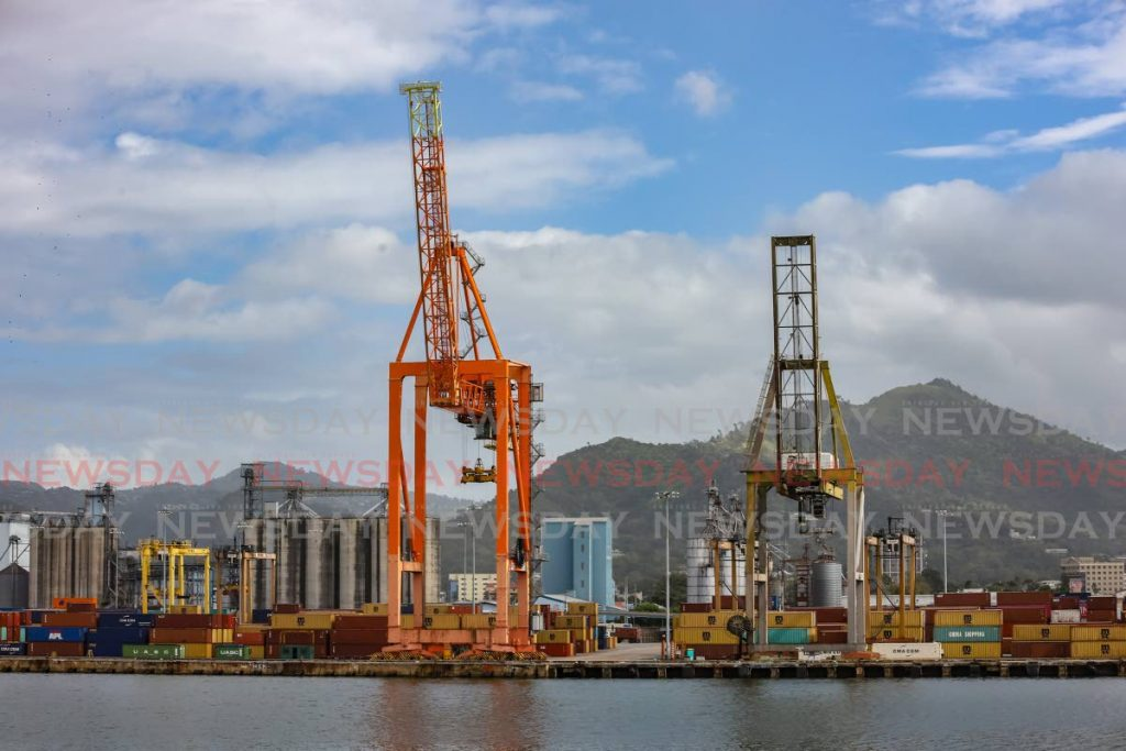 A crane at the port of Port of Spain. - JEFF K MAYERS