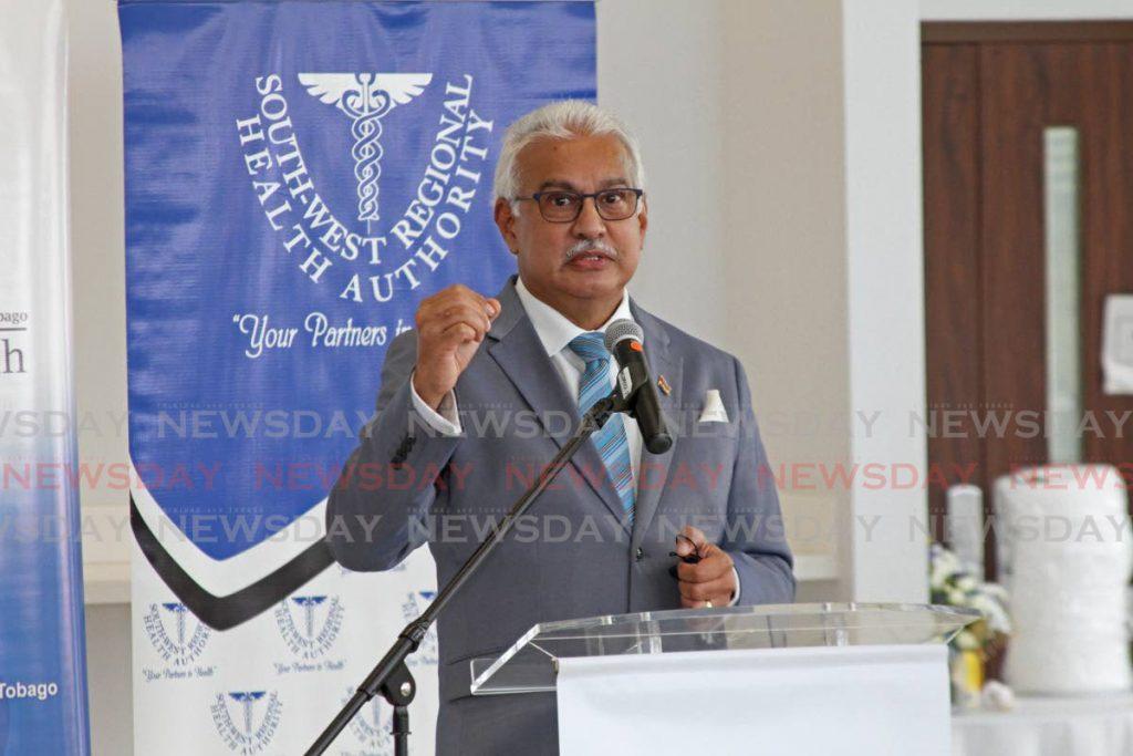 Health Minister Terrence Deyalsingh. -