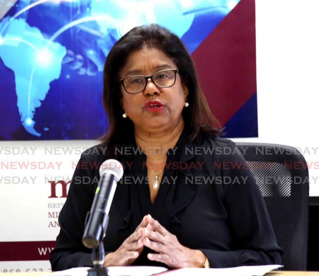 Minister of Trade and Industry Paula Gopee-Scoon. -