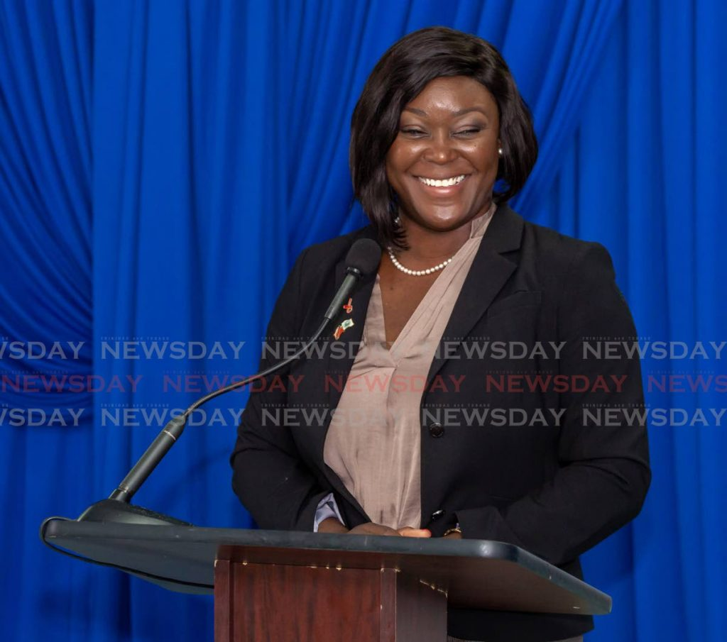 PNM Tobago Council leader Tracy Davidson-Celestine said screening for candidates in the December 6 THA election begins this week. - Photo by David Reid
