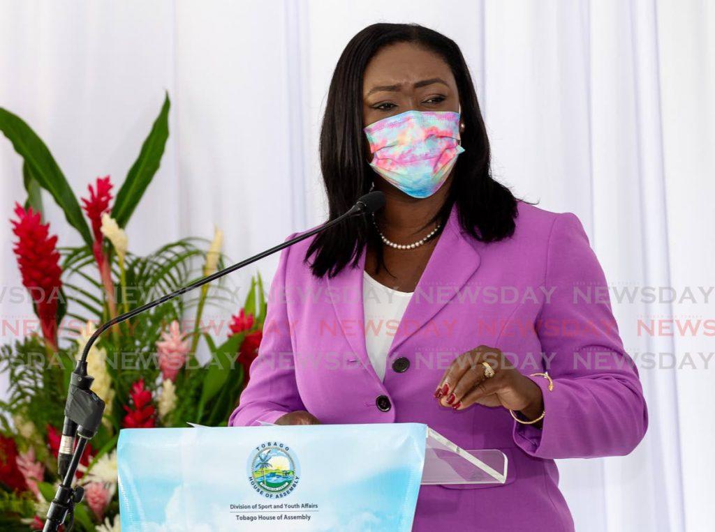 Tracy Davidson-Celestine, PNM Tobago Council leader. Photo by David Reid - David Reid