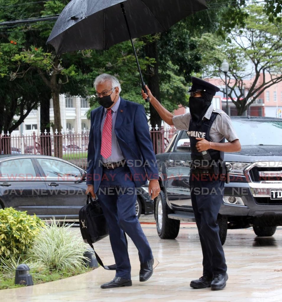 Health Minister Terrence Deyalsingh on his way to Parliament for the budget debate. Photo by Sureash Cholai - SUREASH CHOLAI