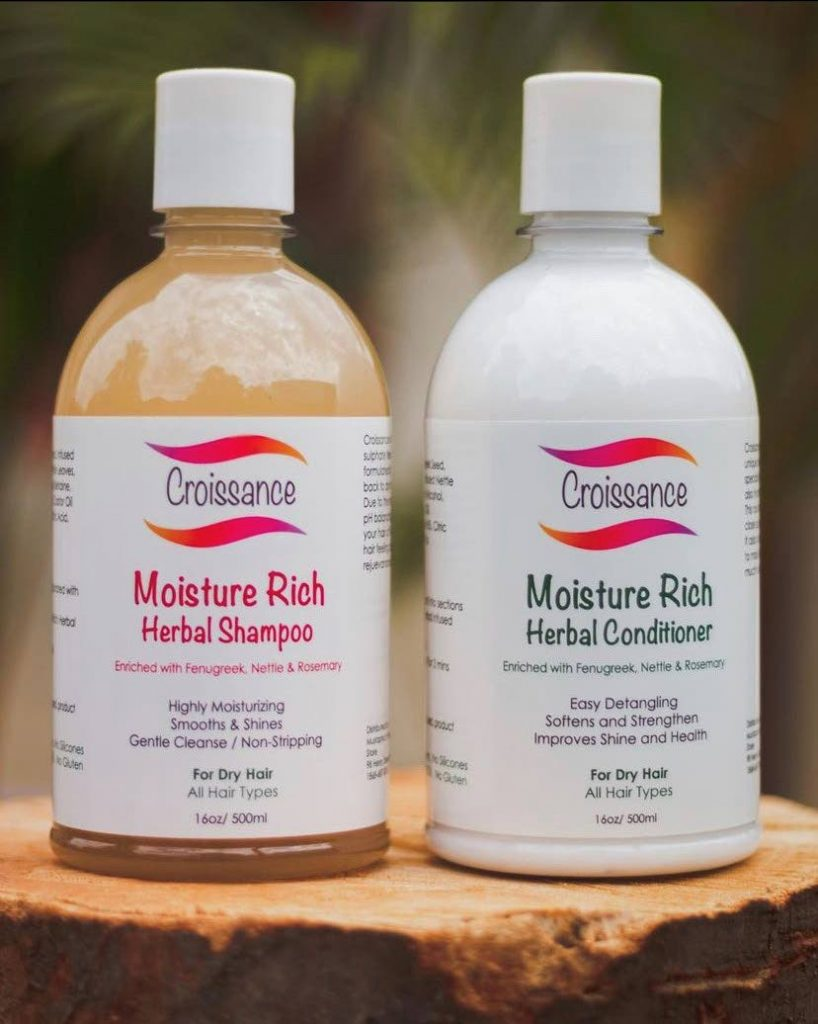 Moisture rich herbal shampoo and conditioner by Croissance Hair and Skin Limited  - Photo courtesy Croissance