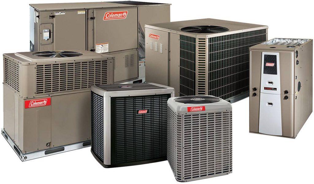 A range of Coleman AC units. -