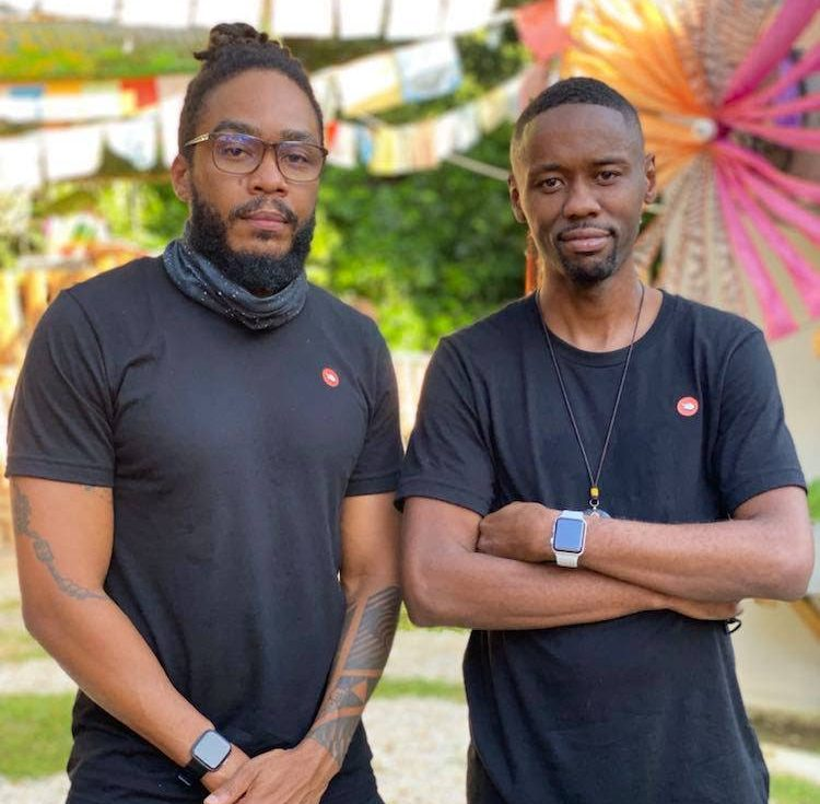 Tap This Link co-founders Dale De Mille, left, and Collin Charles. Their tapShop system can work for any type of retail business, including apparel, jewellery, sports gear, car parts, hardware, bookstore, healthcare, or spas. -