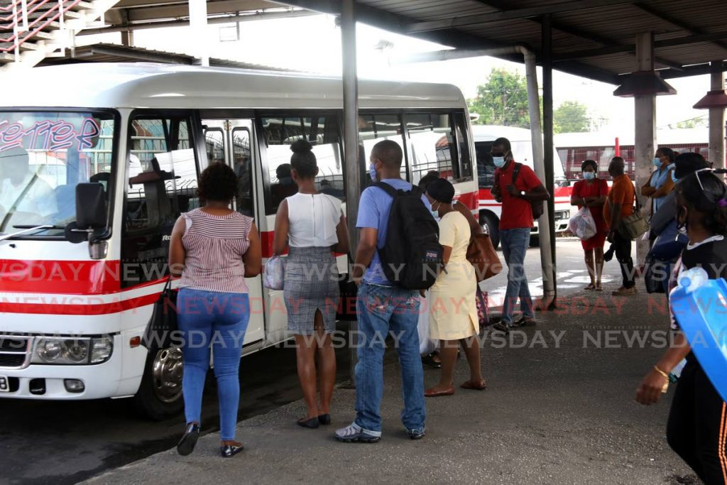 The travelling public who use maxi-taxis on routes along the east/west corridor will have to dig deeper in their pockets as fares will be increased by as high as $2 come November 1. FILE PHOTO -