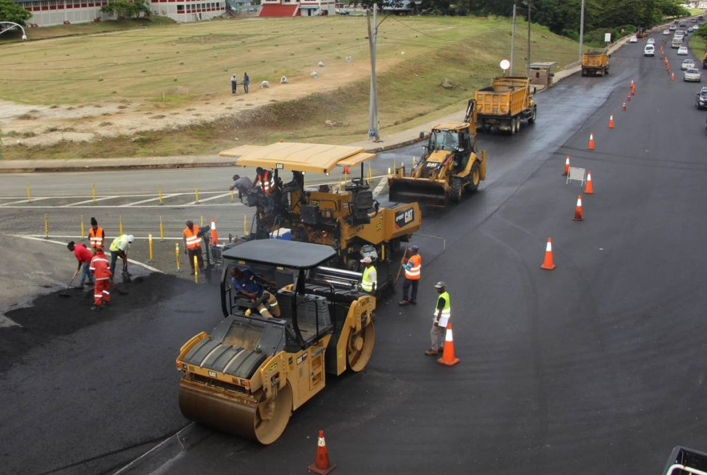 A road resurfacing project along the Claude Noel Highway, Tobago. - DIQE