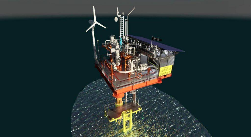 A model of the Zandolie platform. Image courtesy DeNovo Energy Ltd. -