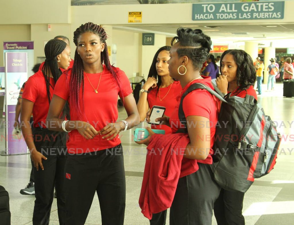 In this July 2, 2019 file photo, the Trinidad and Tobago women's netball team get ready to depart the Piraco International airport to head to the Netball World Cup 2019 in London.  - ROGER JACOB