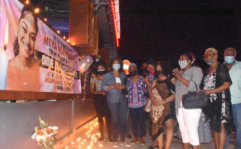 Mourners during the candlelight vigil. Contributed photo.