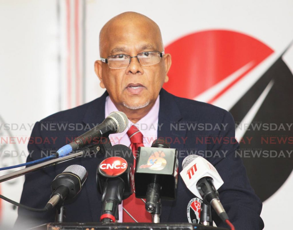 President of the Trinidad and Tobago Cricket Board Azim Bassarath. Bassarath will be seeking another term in office when elections are held on October 30. - Photo by Lincoln Holder